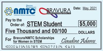 NMTC/ Bravura Awards $40,000 in Scholarships for Women In STEM