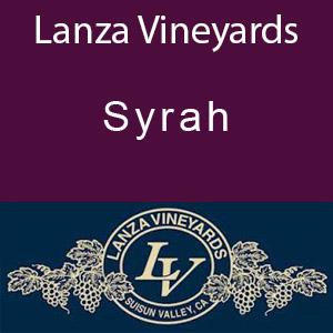 Lanza Vineyards Syrah