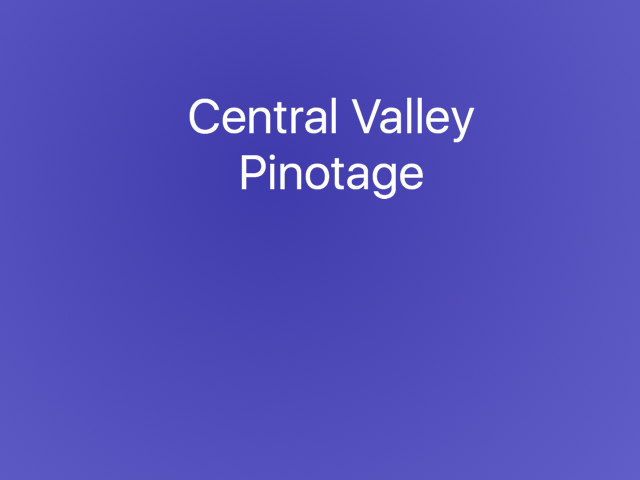 Central Valley Pinotage