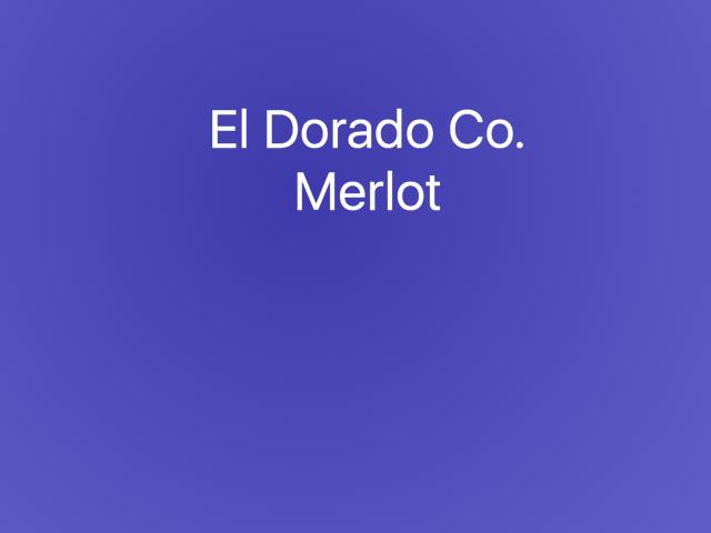 El Dorado Co. Merlot