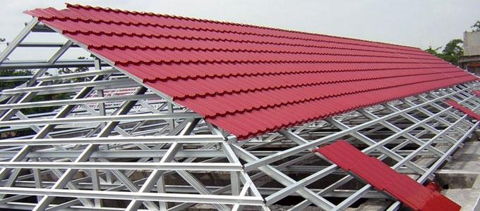 jarak reng baja ringan atap multiroof info terbaru harga genteng metal sakura roof classic permata