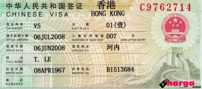 Visa Hong Kong - www.vietnam-legal.com