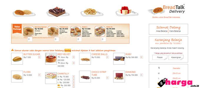 Daftar Harga Kue Ulang Tahun Di Breadtalk Daftar Harga Tarif