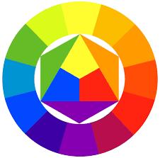warna dasar terdiri dari warna merah, kuning, dan biru.
