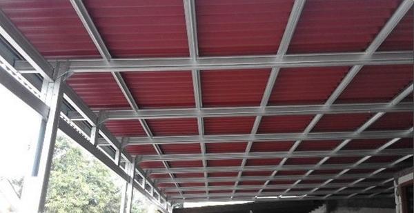 contoh rangka atap baja ringan minimalis gambar model kanopi ringgan