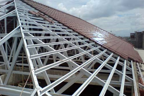 kanopi baja ringan bogor kota jawa barat ahli pemasangan atap rangka harga