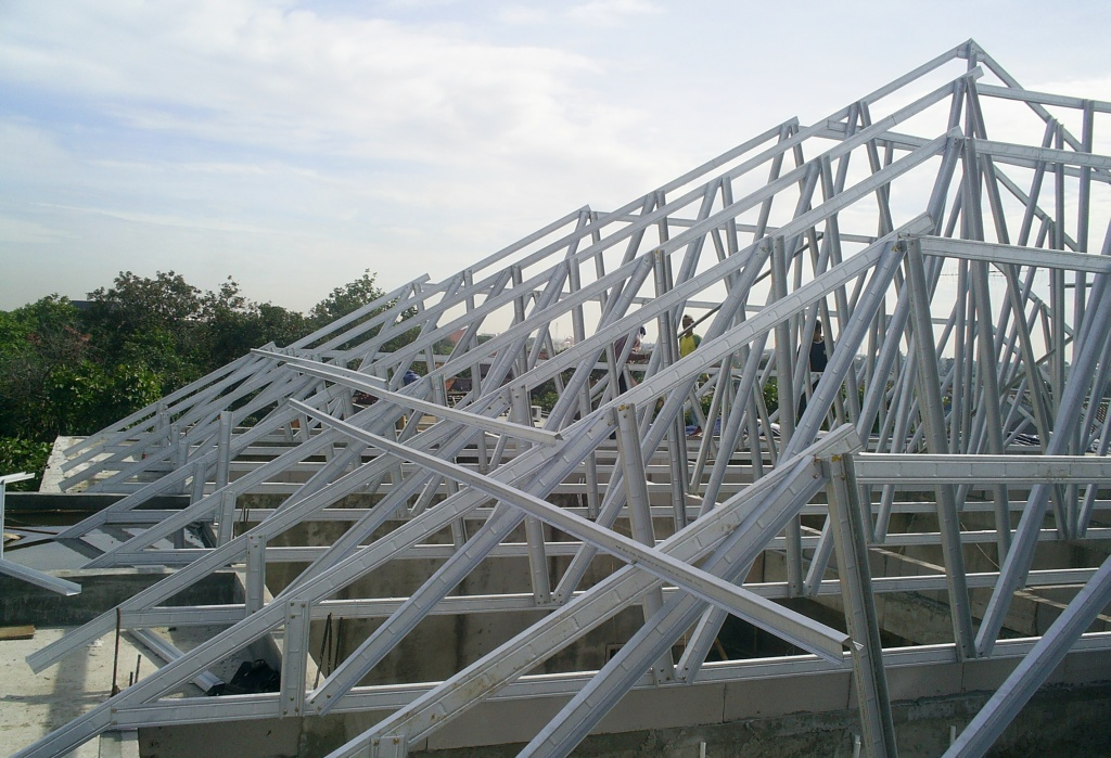 pasang atap baja ringan bekasi jual rangka grosir tanah abang tas