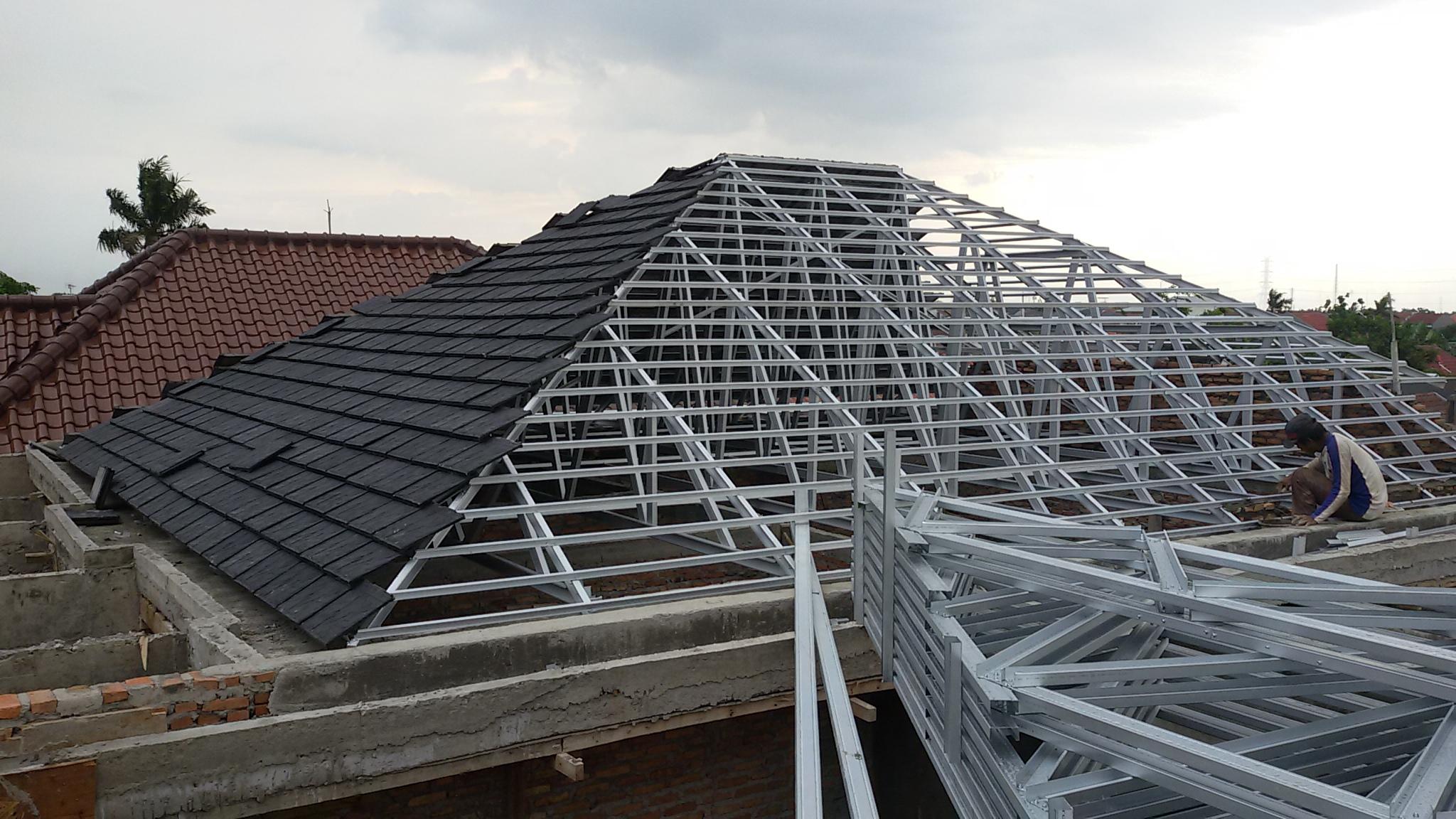 harga atap baja ringan paling murah pasang rangka kanopi
