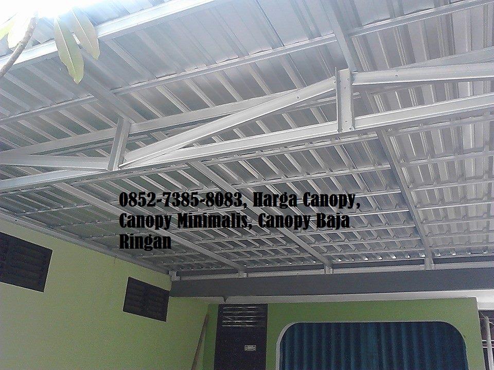harga atap baja ringan untuk kanopi jasa rangka biaya pasang