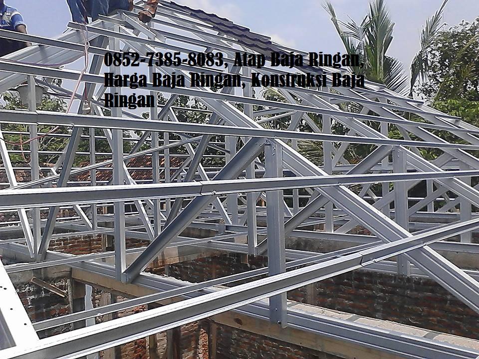 kanopi baja ringan vs kayu jasa rangka atap biaya pasang