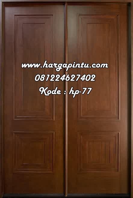 Daun Pintu Utama Doubel Minimalis Kupu Tarung Harga Pintu