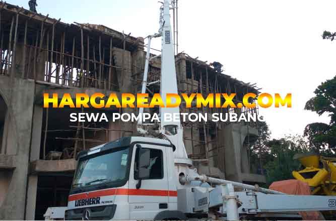 Harga Sewa Pompa Beton Subang