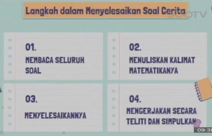 Soal dan Jawaban SBO TV 30 September SD Kelas 1