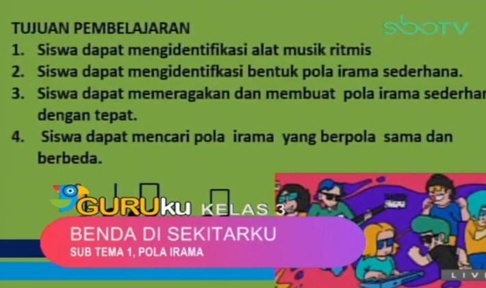 Soal dan Jawaban SBO TV 3 September SD Kelas 3