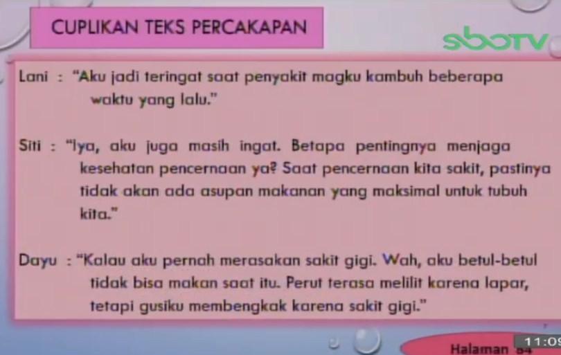 Soal dan Jawaban SBO TV 15 September SD Kelas 5