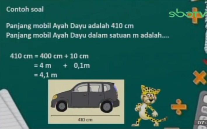 Soal dan Jawaban SBO TV 8 Oktober SD Kelas 3