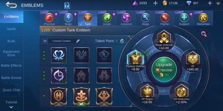 Emblem Tank Terkuat Mobile Legends