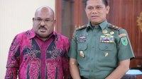 Panglima Kodam XVII Cenderawasih Kunjungi Gubernur Papua