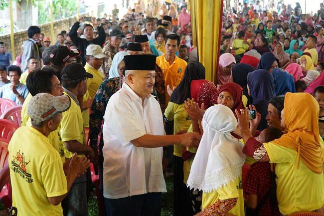 Masyarakat Tanjung Sakti Inginkan Alex Noerdin Jadi Wakil Rakyat di Senayan