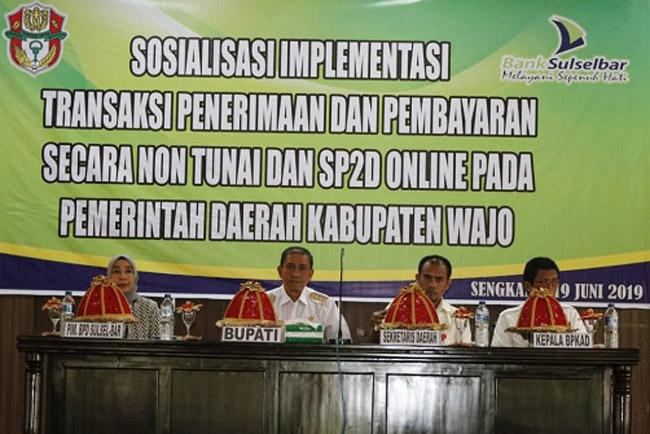 Bank Sulselbar Jadi Tempat Transaksi Non Tunai Kabupaten Wajo