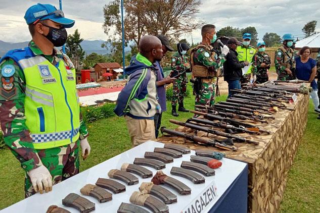 Pasukan Perdamaian Indonesia Turunkan Milisi Bersenjata Terbesar di Kongo