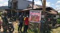 Koramil Toho Himbau Masyarakat Patuhi Protokol Kesehatan