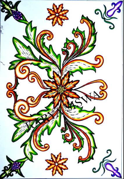 Sketsa Batik Bunga : sketsa, batik, bunga, Sketsa, Gambar, Batik, Bunga, Mudah, Terlengkap, Koleksi