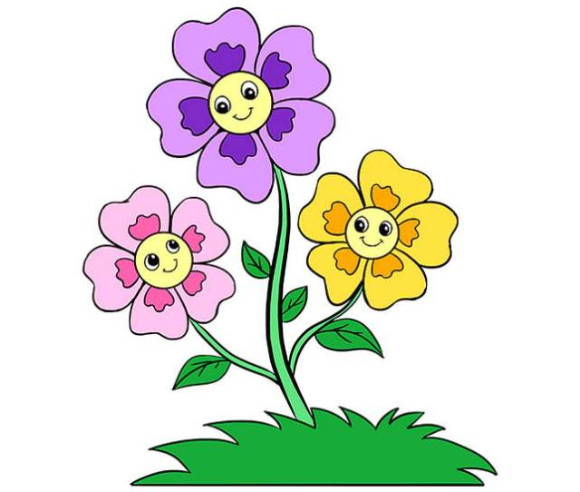 Gambar Kartun Bunga Harian Nusantara