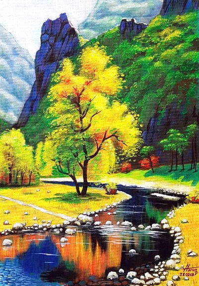 Contoh Gambar Lukisan : contoh, gambar, lukisan, Gambar, Lukisan, Pemandangan, Harian, Nusantara