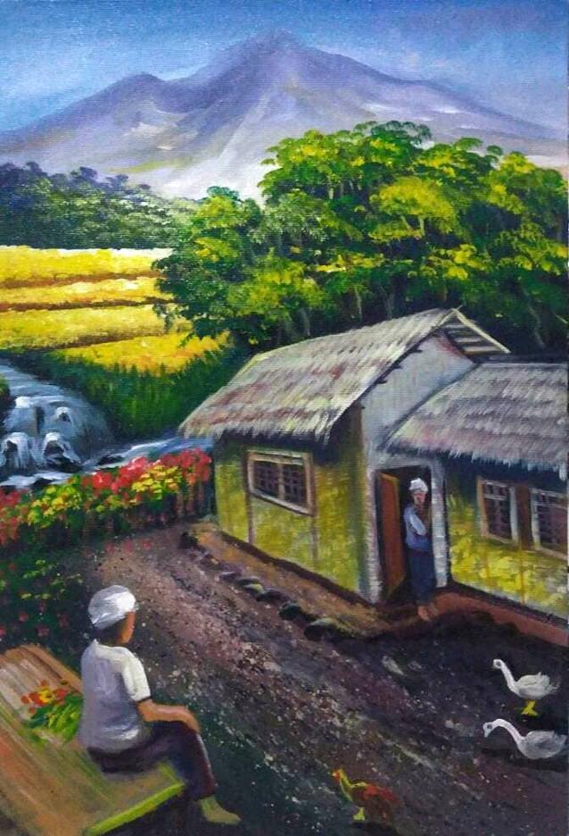 Gambar Pegunungan Kartun : gambar, pegunungan, kartun, Gambar, Pemandangan, Pedesaan, Harian, Nusantara