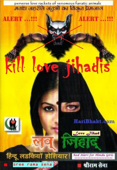 kill love jihadis they are luring innocent Hindu girls