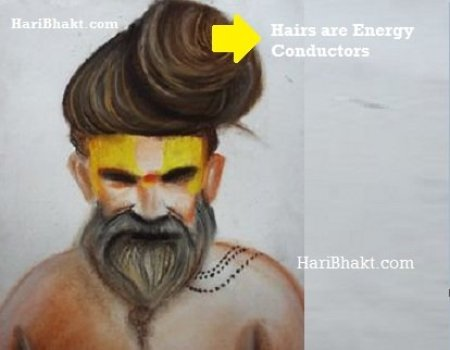 Keeping long head hairs help in enhacing eletromagnetic energy for the body