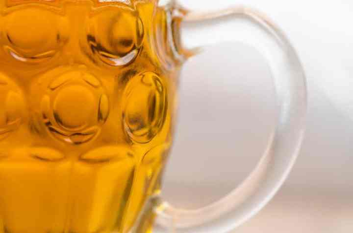 close up beer glass