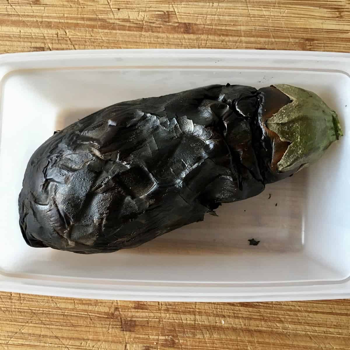 aubergine in tupperware