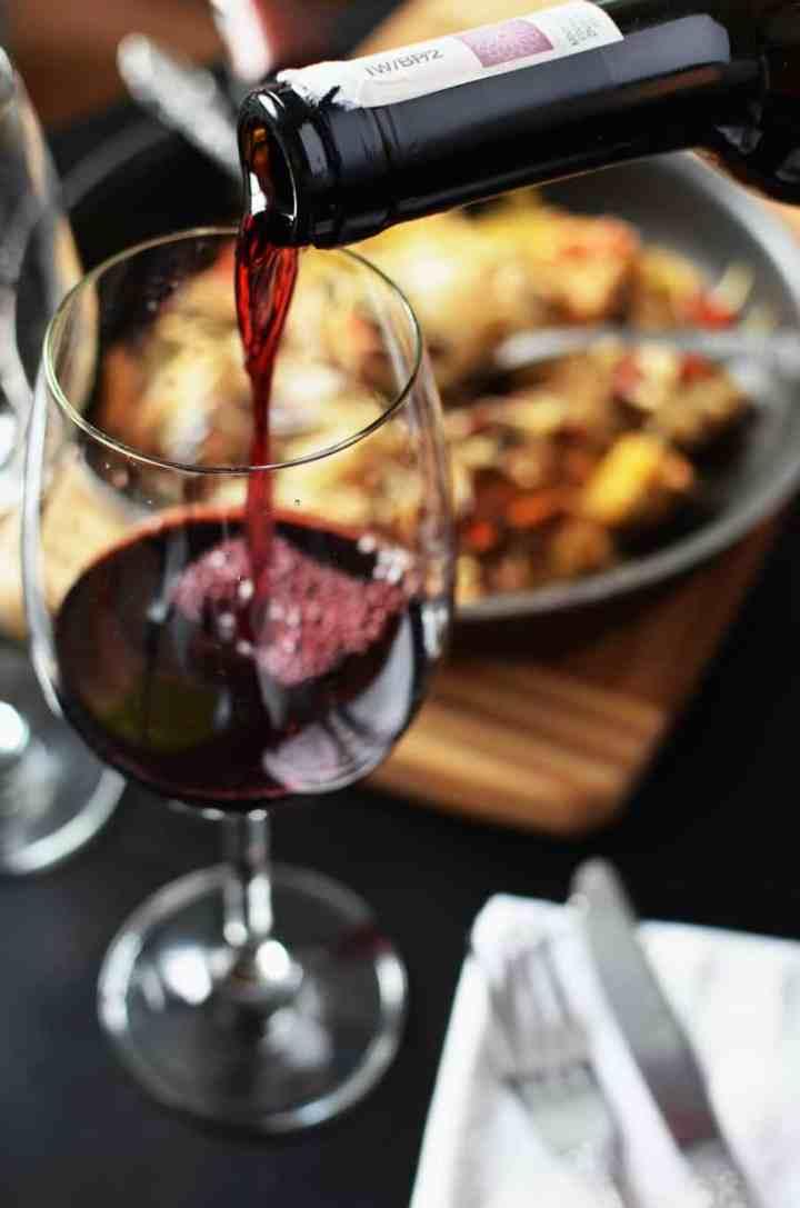 red wine dinner