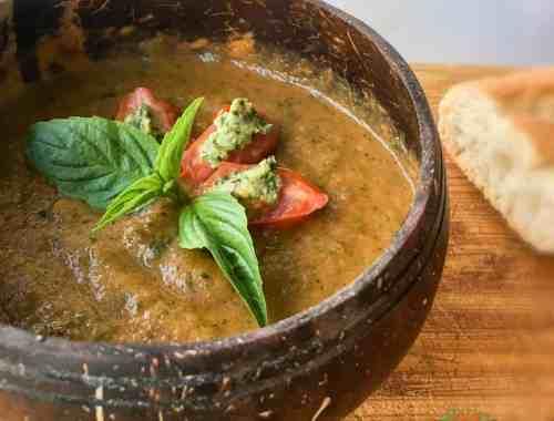 courgette tomato basil soup