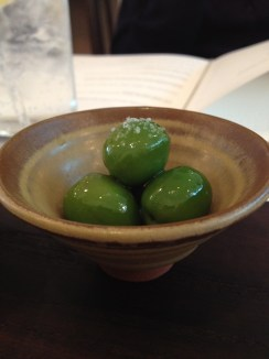 Olives with aperitif