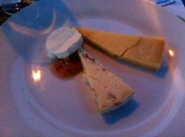 Winterdale Shaw, Stichleton & Goats Cheese with Banana Jam