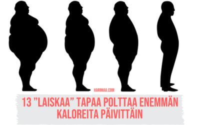 """13 """"laiskaa"""" tapaa polttaa enemmän kaloreita päivittäin"""