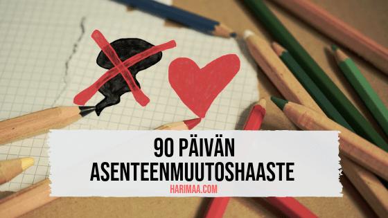 90 päivän asenteenmuutoshaaste