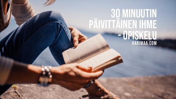 30 minuutin päivittäinen ihme – opiskelu