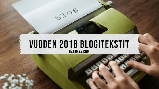Vuoden 2018 blogitekstit