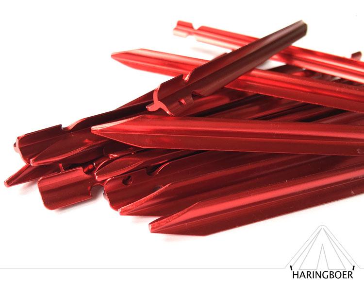 haringen kopen 15cm rode aluminium vleugel haringen voor uw tent haring