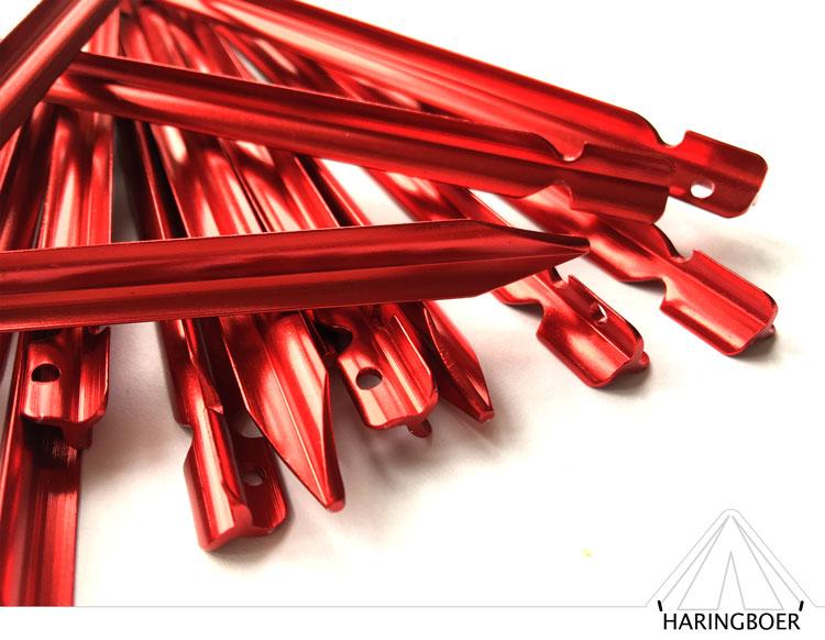 vleugelharing kopen 15cm rode aluminium vleugel haringen voor uw tent haring