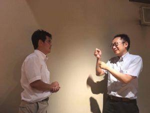 小川先生と足立繁久