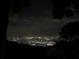 金剛山から見た奈良の夜景の写真
