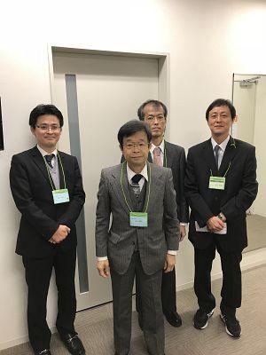 日本伝統鍼灸学会の気口九道脈診シンポジウム控室にて