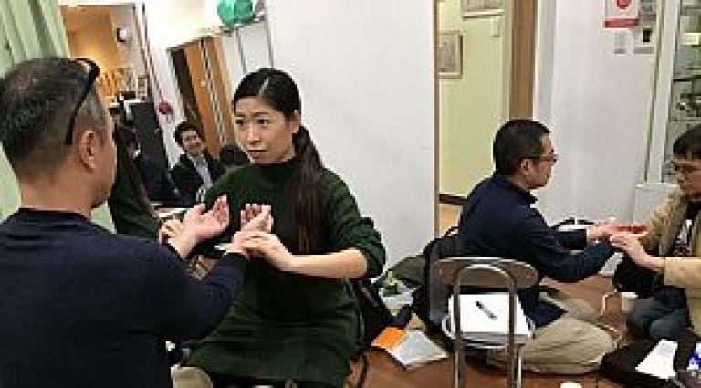 鍼道五経会 東京講座の脈診実技