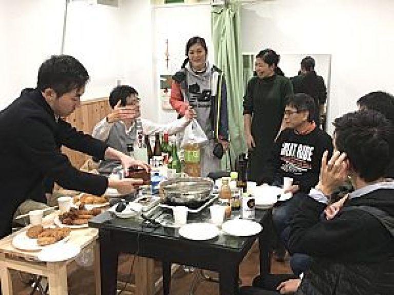 鍼道五経会の忘年会2019 東京会場にて盛り上がる
