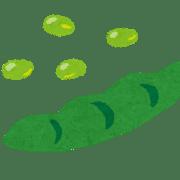 豆のイラスト、菽法脈診のイメージ